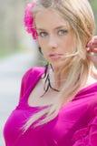 Portrait of naturally beautiful blond woman Stock Photos