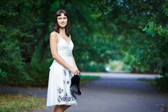 Portrait of naturally beautiful woman in her twent Royalty Free Stock Photography