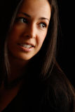 Portrait of naturaly beautiful brunette Stock Photography