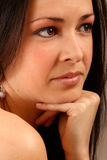 Portrait of naturaly beautiful brunette Royalty Free Stock Images