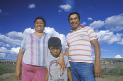 Portrait of a Navajo family, Royalty Free Stock Photos