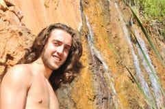 Portrait near a waterfall Royalty Free Stock Photo