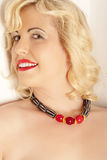 Portrait with Necklace Designers Royalty Free Stock Image