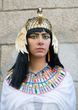 Portrait of Nefertiti. Portrait of a girl wearing a masquerade for Nefertiti Stock Image