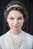 Portrait of Neo-Victorian female model Royalty Free Stock Photo