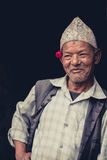 Portrait of a Nepalese man Stock Photo