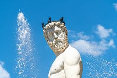 Portrait of the Neptune Fountain in Florence