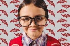 Portrait of nerd boy wearing spectacles