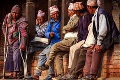 Portrait of Newars of Bhaktapur,Nepal Stock Image