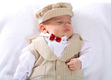 A portrait of a newborn baby boy Royalty Free Stock Photos