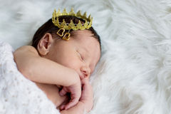 Portrait of a newborn baby boy Stock Photos