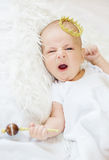 Portrait of a newborn baby boy Royalty Free Stock Photo