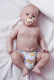 Portrait of a newborn baby boy at home Royalty Free Stock Photos