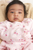 Portrait of a Newborn Baby Girl Stock Photo