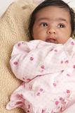 Portrait of a Newborn Baby Girl. Gazing stock images
