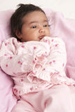 Portrait of a Newborn Baby Girl Stock Image