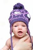 Portrait of newborn baby girl Stock Image