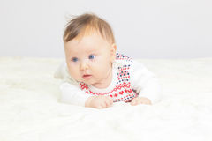 Portrait of newborn baby girl Royalty Free Stock Photography
