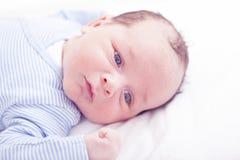 Portrait of newborn baby Stock Photo