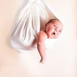 Portrait of a newborn baby Stock Photos