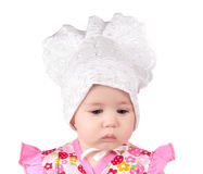 Portrait of a newborn girl Royalty Free Stock Images
