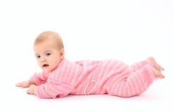 Portrait of the newborn girl Stock Photos