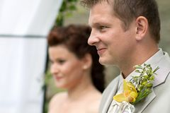 Portrait of newlyweds Royalty Free Stock Images