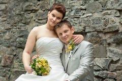 Portrait of newlyweds Stock Image