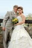 Portrait of newlyweds Royalty Free Stock Photo