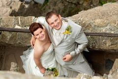 Portrait of newlyweds Royalty Free Stock Image