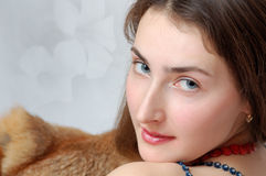 Portrait of the nice attractive girl stock photography