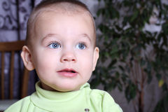 Portrait of nice baby close up Royalty Free Stock Images