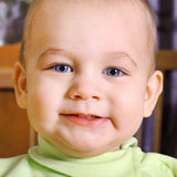 Portrait of nice baby close up Stock Images