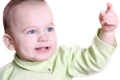 Portrait of nice baby isolated Royalty Free Stock Images