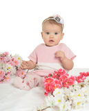 Portrait of a nice baby Royalty Free Stock Images