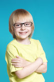 Portrait of the nice boy in glasses Stock Photo