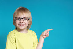 Portrait of the nice boy in glasses Stock Image