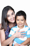 Portrait of nice boy with mother Stock Image