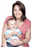 Portrait of nice boy with mother Stock Photography