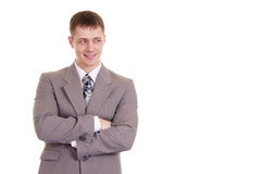 Portrait of a nice businessman in a suit Royalty Free Stock Images