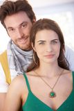Portrait of nice couple smiling Royalty Free Stock Photos