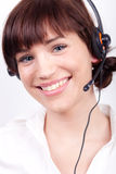 Portrait of a nice customer support employee Royalty Free Stock Image