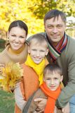 Portrait of a nice family Stock Photography