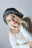 Portrait of the nice girl in hat Royalty Free Stock Images