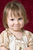 Portrait of the nice little girl Stock Photos