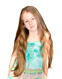 Portrait the nice little girl Royalty Free Stock Photo