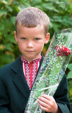 Portrait of nice little schoolboy Stock Image