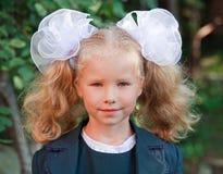 Portrait of nice little schoolgirl Stock Photography