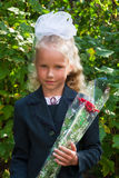 Portrait of nice little schoolgirl Royalty Free Stock Photo