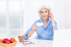 Portrait of nice looking adult woman stock image